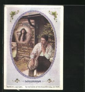 Mini-AK Louisiana, Sehgnsucht, Liebespaar