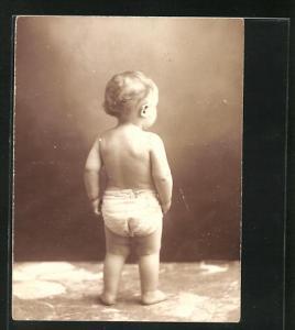 Mini-AK Rückenansicht von Kleinkind