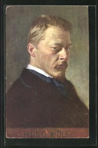 Künstler-AK Komponist Hugo Wolf im Anzug