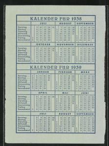 Kalender 1938 /39, Norddeutscher Lloyd Bremen