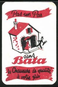 Kalender 1951, Pas un Pas, sans Bata, Paar verlässt Haus