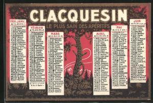 Kalender 1931, Clacquesin Le Plus Sain Des Aperitifs