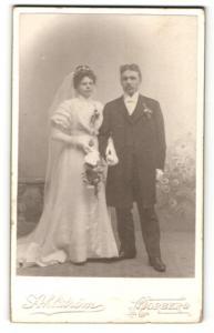Fotografie Ahlström, Norberg, Portrait Braut und Bräutigam, Hochzeit