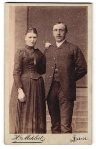 Fotografie H. Mehlert, Itzehoe, Portrait bürgerliche Eheleute