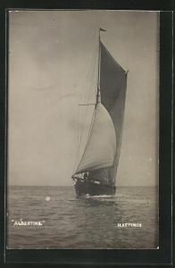 AK Segelyacht Albertine auf hoher See