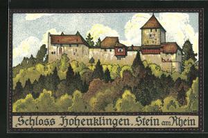 Künstler-AK Stein am Rhein, Schloss Hohenklingen