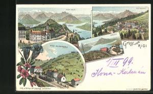 Lithographie Rigi, Rigi-Klösterli, Rigi-Kaltbad, Känzeli