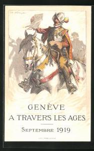 Künstler-AK Genève / Genf, A travers les Ages, Septembre 1919, Herold