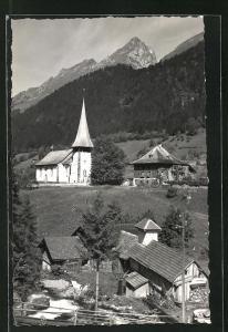 AK Jaun / Bellegarde, Kirche im Dorfbild