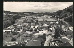 AK Flamatt, Panoramablick vom Berg