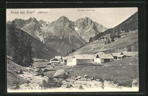 AK Val S-charl, Panorama mit Blick auf Piz Pisoc