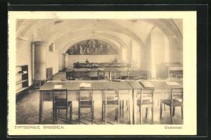 AK Einsiedeln, Stiftsschule, Studiensaal, Innenansicht