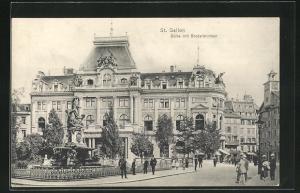 AK St. Gallen, Börse mit Broderbrunnen