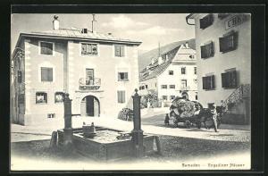 AK Samaden, Engadiner Häuser