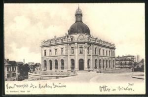 AK Frauenfeld, Strassenpartie mit Postgebäude