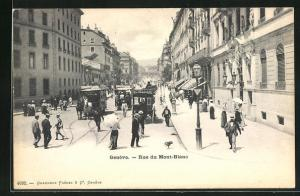 AK Genf, Rue du Mont-Blanc