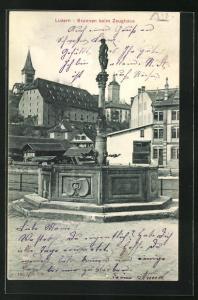 AK Luzern, Brunnen beim Zeughaus
