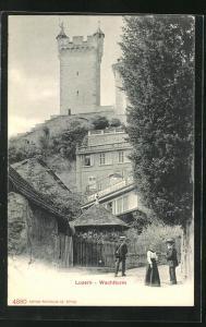 AK Luzern, Partie am Wachtturm