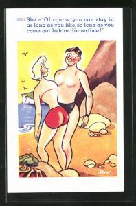 AK Liebespaar am Strand