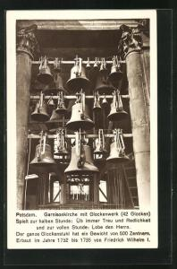 AK Potsdam, Garnisonkirche mit Glockenwerk