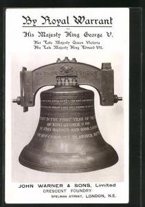 AK By Royal Warrant to King George V. and Queen Victoria , Tenor Bell in St. Nicholas Church in Liverpool