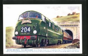 Künstler-AK British Railways The Bristolian verlässt einen Tunnel