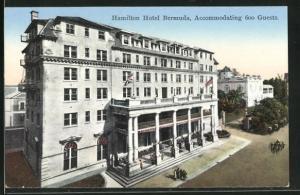 AK Hamilton / Bermuda, View of the Hamilton Hotel