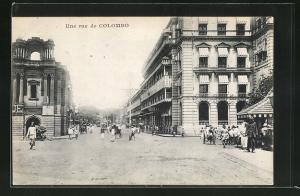 AK Colombo, Une Rue, Strassenpartie