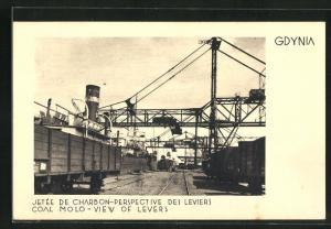 AK Gotenhafen / Gdynia, Coal Molo - View of Levers