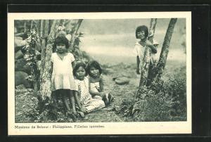 AK Philippines, Fillettes igorottes, Kinder