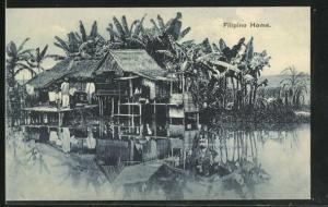 AK Philippines, Filipino Home, Haus am Wasser