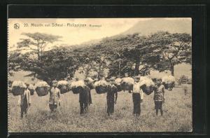 AK Philippines, Rijstoogst, Feldarbeiter