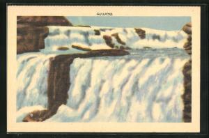 AK Island, Gullfoss, Wasserfall