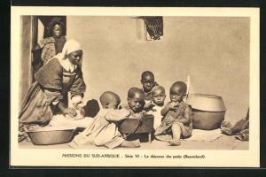 AK Basutoland, Missions du Sud-Afrique, Le dejeuner des petits