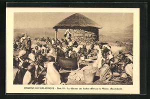 AK Basutoland, Le dejeuner des écoliers offert par la Mission, Missions du Sud-Afrique