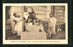 AK Basutoland, Missions du Sud-Afrique, La cueilette quotidienne des enfants abandonnés
