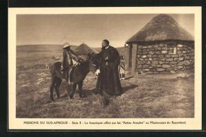 AK Basutoland, Le bourriquot offert par les Petites Annales au Missionaire