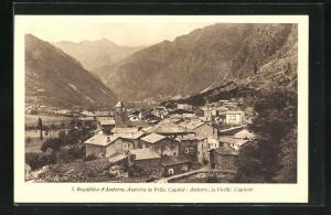 AK Andorra la Vella, Ortsansicht