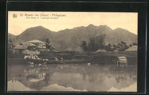 AK Philippijnen, Missien van Scheut, Een missie in `t gebergte kiangan