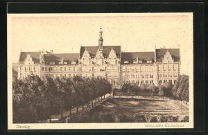 AK Danzig / Gdansk, Blick auf die Technische Hochschule