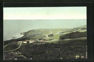 AK Saint John, Panorama mit Küste