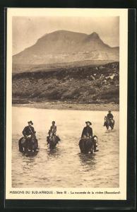 AK Basutoland, Missions du Sud-Afrique, La traversee de la riviere