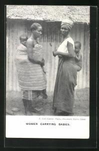 AK Sierra Leone, Women carrying babies