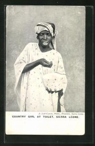 AK Sierra Leone, Country girl at toilet