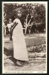 AK Sierra Leone, Carrying her baby