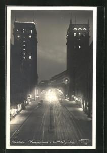 AK Stockholm, Kungstornen i kvällsbelysning