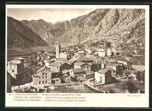 AK Andorre la Vieille, Ortsansicht