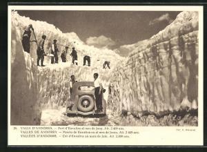 AK Andorre, Col d`Envalira au mois de Juin