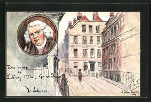 AK Portrait Dr. Johnson, The Homes of Literary Men, Gough Square