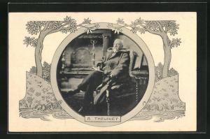 AK Portrait A. Theuriet mit Vollbart im Mantel